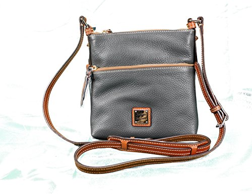 Dooney & Bourke Letter Carrier Cross-body in Pebbled Leather (Dark Grey)