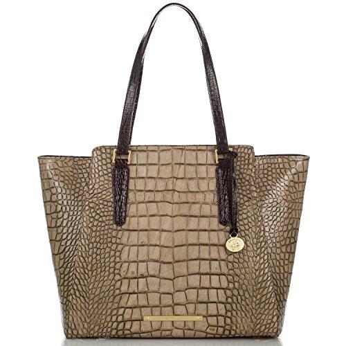 Brahmin Women's Handbag Tori Leather Tote Taupe Sienna
