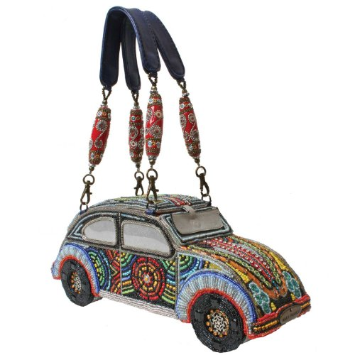 Mary Frances Wild Ride Multi Colored Bug Convertible Clutch Handbag