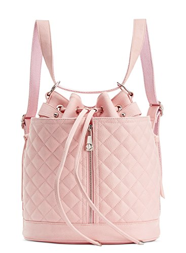 Steve Madden Bfluttr Quilted Convertible Drawstring Crossbody/Backpack – Blush