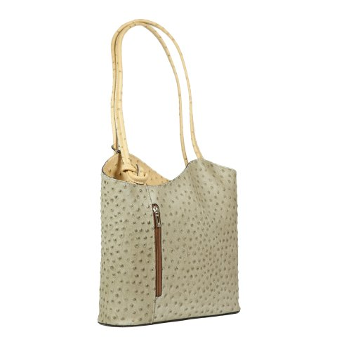 HS 3005 PHOEBE TP Made in Italy Taupe/Camel Bucket Shoulder Bag