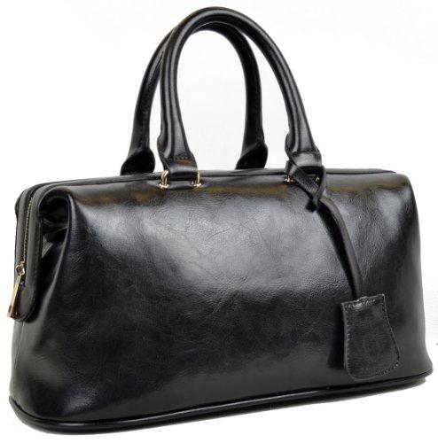 Heshe Women's Fashion Genuine Leather Shoulder Messenger Bag Women Handbag