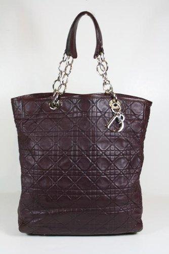 Christian Dior handbags Plum (Dark Burgundy) Leather LRE449610