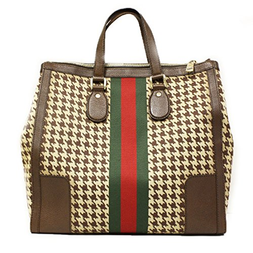Gucci 217624 Gucci 70s Seventies Large Web Tote Bag Brown