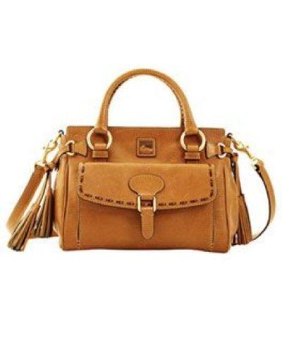 Dooney & Bourke Florentine Leather Medium Pocket Satchel Natural