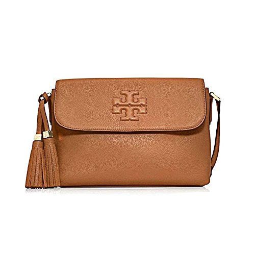 Tory Burch Thea Womens Brown Purse Leather Messenger
