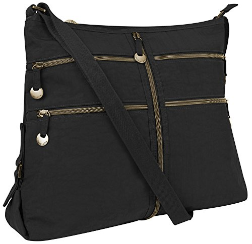 Travelon RFID Expanding Convertible Crossbody Bag – Black
