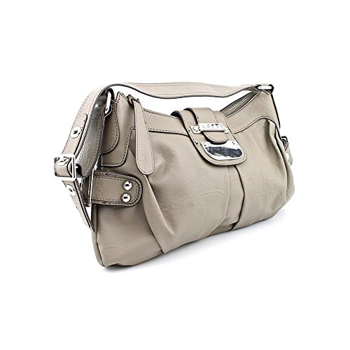 Guess Donna Womens Faux Leather Satchel