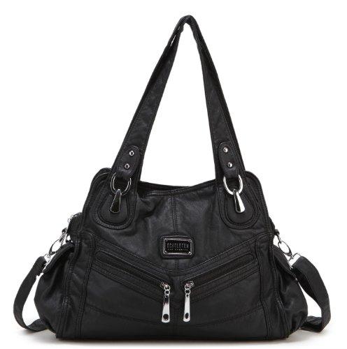 Scarleton Diagonal Zipper Pocket Shoulder Bag H1477