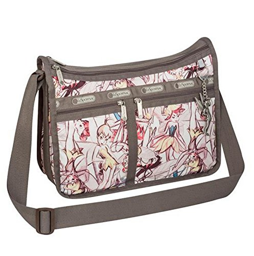 LeSportsac Deluxe Everyday Bag w Charm, Tink Marc Davis Large