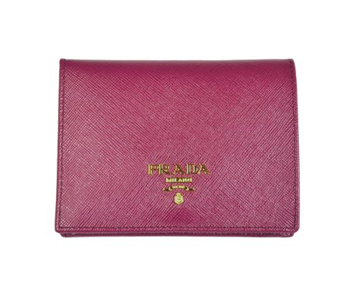 PRADA Saffiano Leather Bi-Fold Wallet Ametista 1M0204