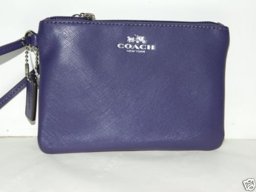 Coach Darcy Leather Small Wristlet 52205 Violet
