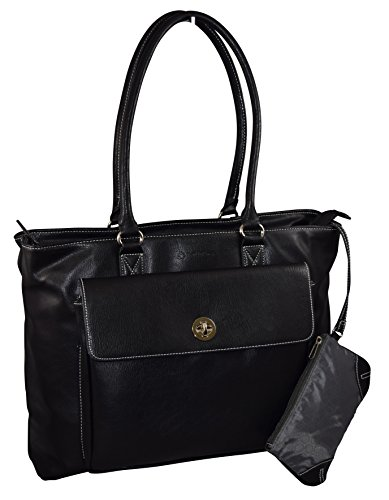 Franklin Covey Women's Business Tote Bag With Padded Compartment For Computer Up To 15.4″ – Black