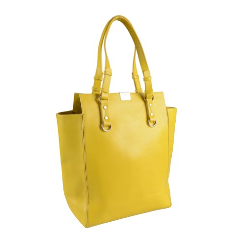 Dsquared Bright Yellow Leather Tote Shoulder Handbag Bag