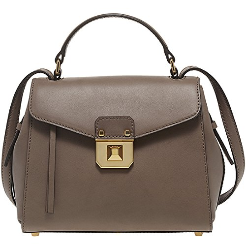 2014 AW Authentic MCM CHRISTINA Small Size Satchel Bag Iron Color MWE4AJD06NO
