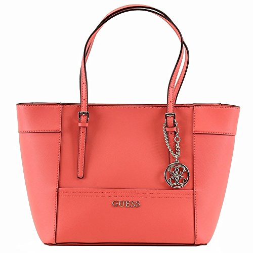 Guess Women's Delaney VY453522 Coral Small Classic Tote Handbag