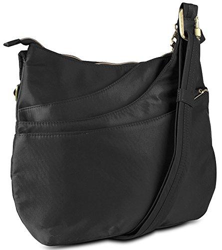 Travelon Anti-Theft Drape Pocket Crossbody – Black
