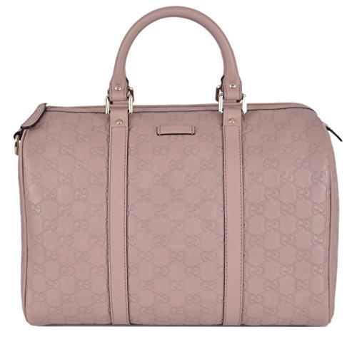 Gucci Women's 265697 Pink Leather GG Guccissima Boston Purse