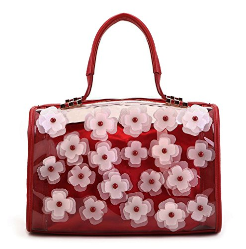 Scarleton Transparent Flower Satchel H1544