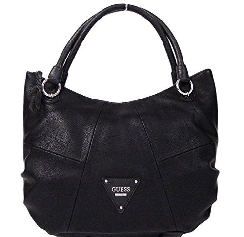 Guess New Rochelle Black Tote Satche Bag Handbag Purse