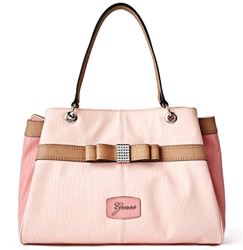 GUESS Hesperia Large Satche Tote Bag Handbag Purse, PINK / BLUSH
