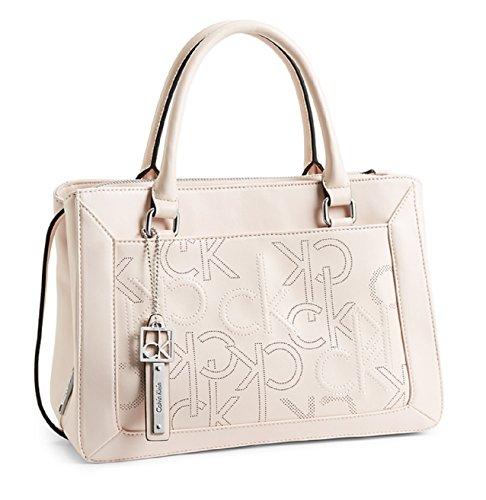 Calvin Klein Kenzie City Center Zip Carryall Bag Handbag (Silk)