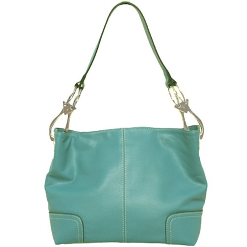 Tosca Classic Medium Shoulder Handbag,Medium,Turquoise