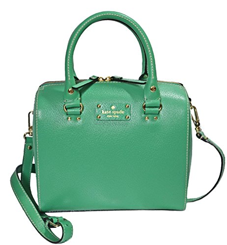 Kate Spade Wellesley Alessa Leather Satchel in Verna Green