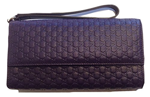 Gucci 309651 Micro GG Guccissima 4 Piece Leather Travel Wristlet Wallet Case