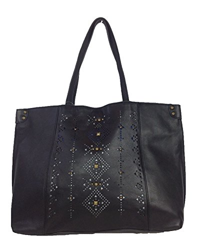 Lucky Brand Newport Leather Tote Bag, Black