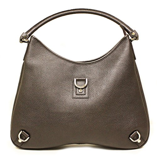 Gucci Large Brown Leather D Ring Hobo Bag 268636