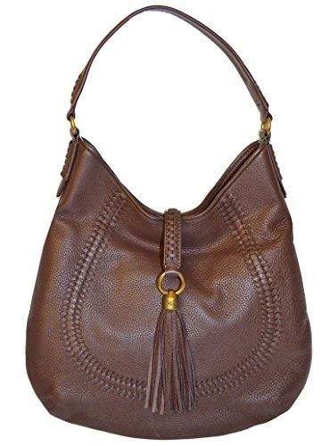 Ralph Lauren Leather Indian Cov Hobo Shoulder Handbag Cocoa