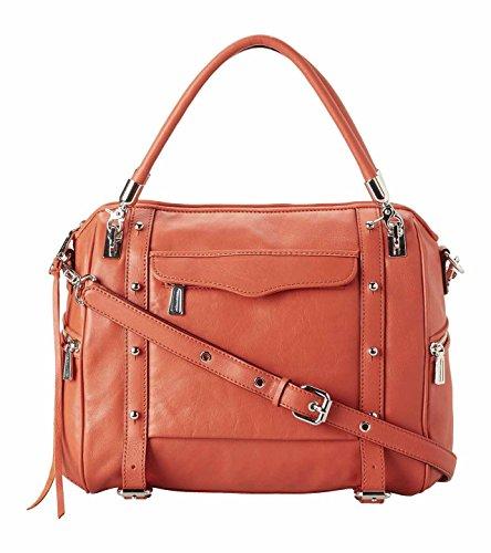 Rebecca Minkoff Cupid Orangina Orange Italian Leather Satchel Tote Carryall