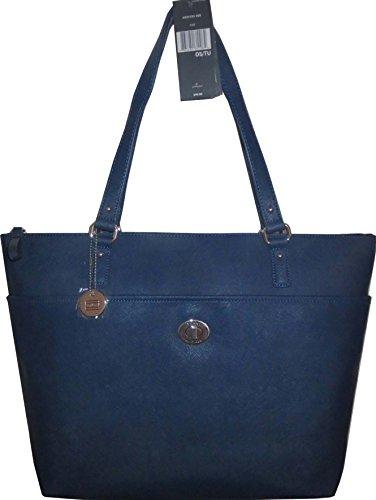 Tommy Hilfiger Handbag Tote Satchel Bag PVC Navy XXXL