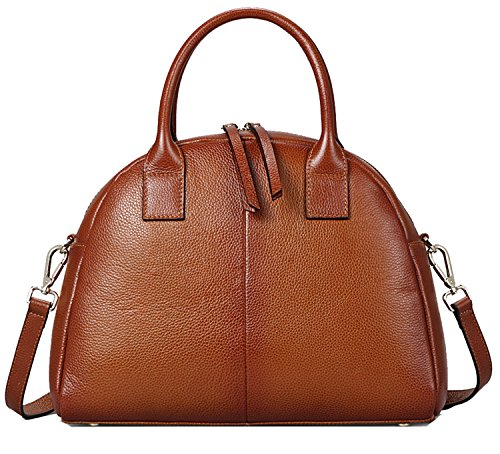 Heshe Cowhide Top Layer Soft Leather Cool Personality Top-handle Shoulder Handbag