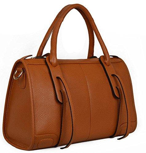 Heshe New Europe Genuine Leather Style Cowhide Tote Cross Body Shoulder Bag Handbag Knight Bag