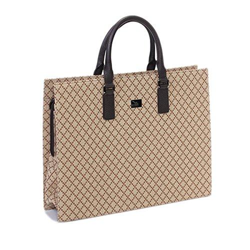 Gucci Unisex Gucci Diamante Portfolio Tote Large Brown Leather 190630