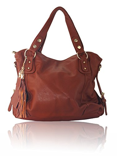 Women Synthetic Leather Hangbag Satchel Tote Shoulder Bags