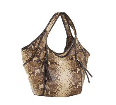 Kooba Erika Embossed Snake Shopper (Tan)