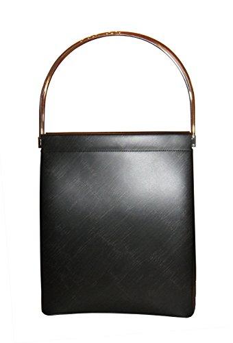 CARTIER® 'TRINITY' Cage Handbag Rolling Rings in BLACK. Made in France (MEDIUM)