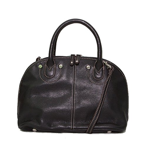 Tignanello Pebble Leather Domed Satchel with Removable Strap.