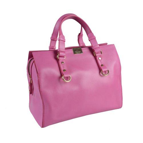 Dsquared Pink Leather Satchel Handbag Bag