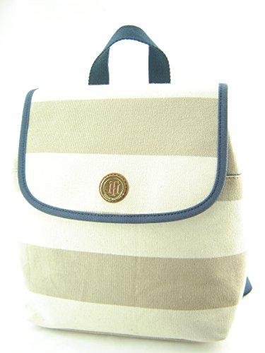 Tommy Hilfiger Mini Backpack Handbag Purse Tan Creme Multi