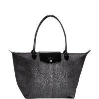 Longchamp Tote – Le Pliage Neo Printed Large Iron Black Shoulder Bag New
