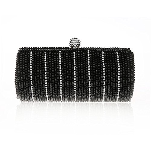 TopTie Exquisite Columnar Imitation Pearl Clutch Bag Roll Handcase