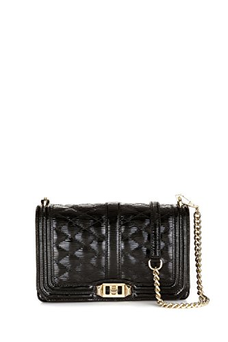 Rebecca Minkoff Love Crossbody, Color 001 Black with Light Gold Hardware
