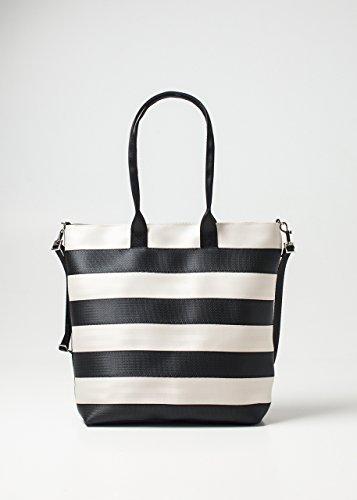 Harveys Seatbelt Bags Streamline Tote, Black & White