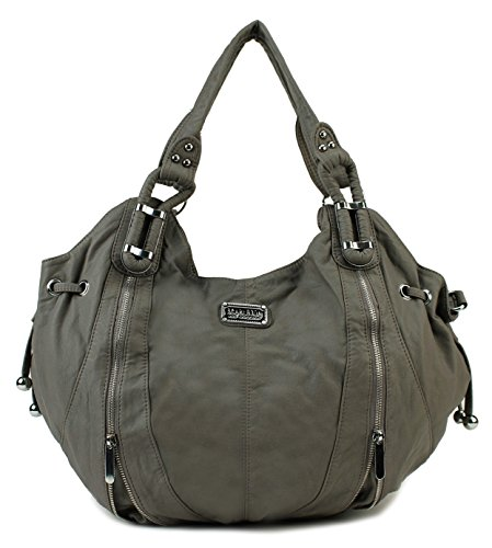 Scarleton Zipper Accent Fashion Shoulder Bag H1374