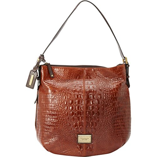 Tignanello Classic Beauty Dome Shopper – Croco (Rust/Brown)