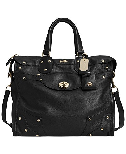 Coach Rhyder 33 Satchel Soft Grain Leather Black New